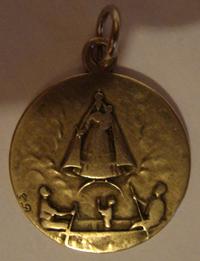 Medalla besada por la Sma. Virgen en Garabandal